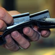 Hands holding wallet