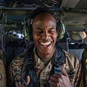 Service member celebrates reeinlistment