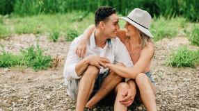 Woman hugging spouse
